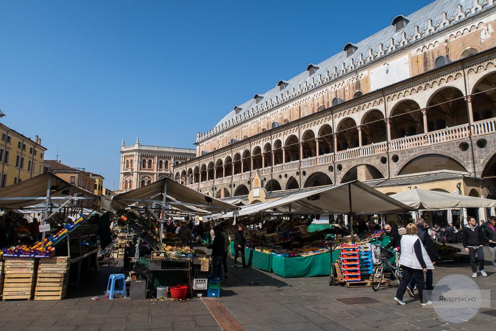 Markt auf der Piazza delle Erbe in Padua