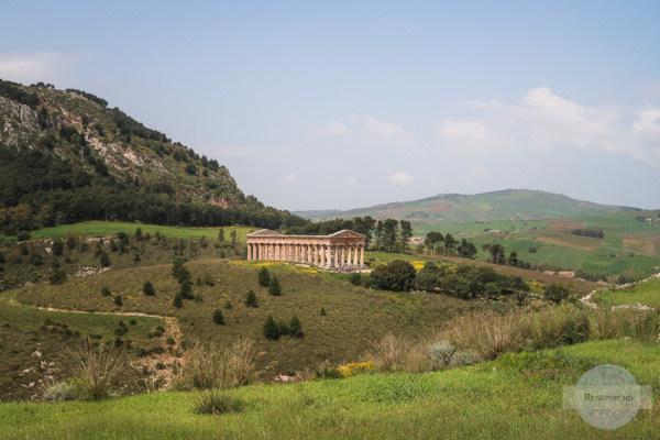 Tempel in Segeste, den auch Goethe besuchte