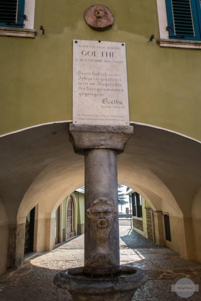 Torbole Erinnerung an Goethe