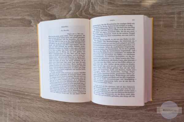 Buch Goethe Italienische Reise als Reiseinspiration