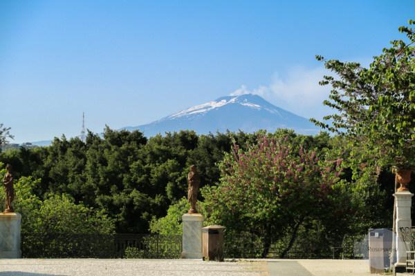 Ausblick auf Ätna von Catania