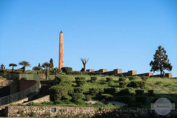 Der Obelisk in Enna markiert den Mittelpunkt Siziliens