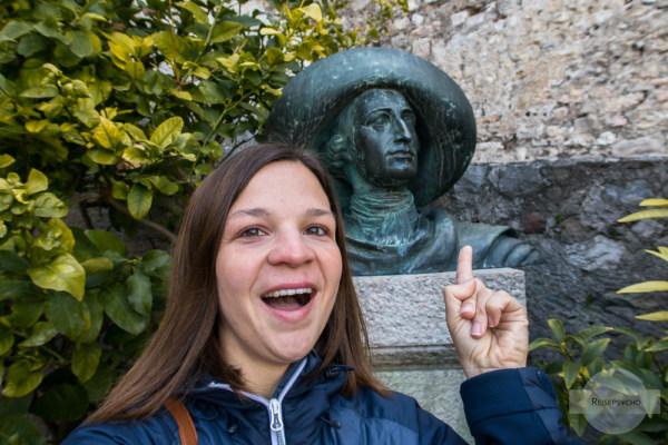 Goethe und ich in Malcesine