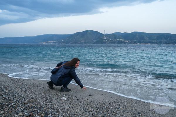 Blick nach Kalabrien von Sizilien aus