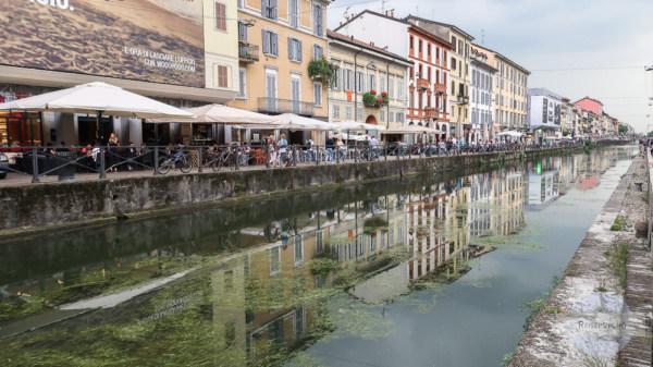Kanal in Naviglio in Mailand