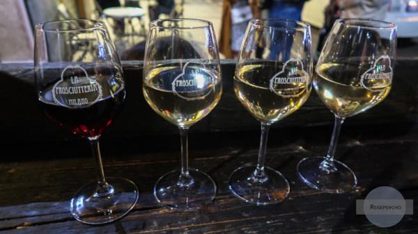 Wein trinken in Mailand