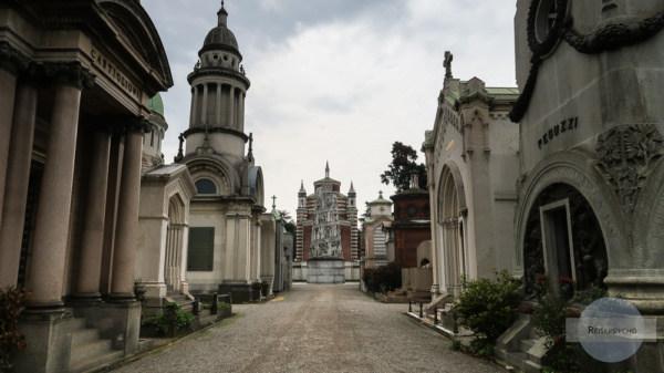 Gruften am Monumente - Friedhof in Mailand