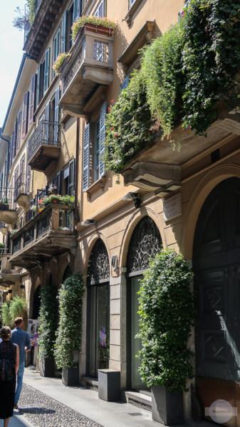 Gasse in Brera in Mailand