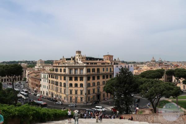 Ausblick vom Kapitol in Rom