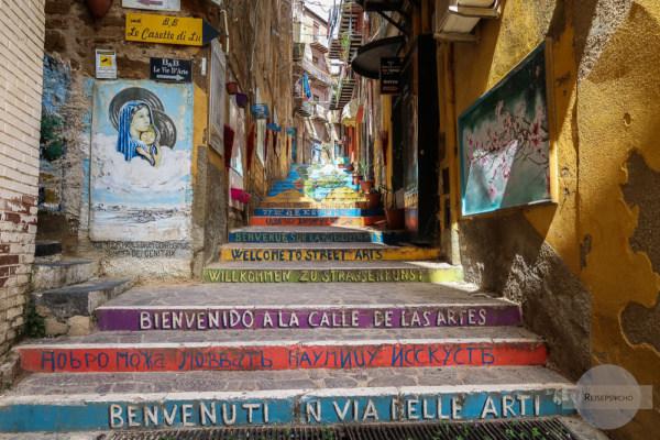 Via Neve in Agrigento mit Streetart