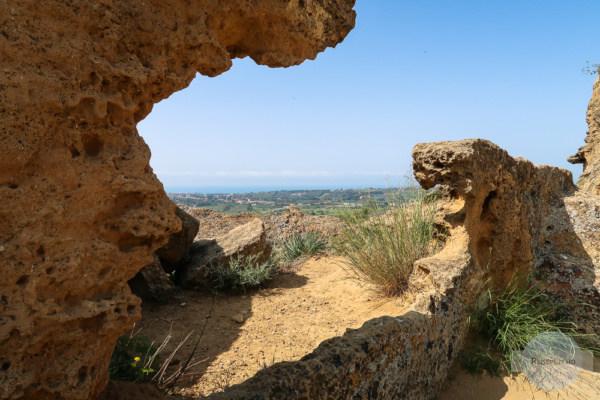 Stadtmauer im Tal der Tempel in Agrigent