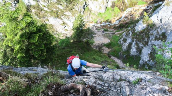 """Der """"Hias""""-Klettersteig befindet sich direkt in der Silberkarklamm"""