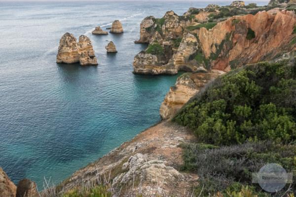 Steilküste in Lagos an der Algarve