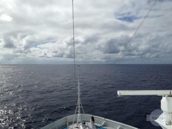 Am Atlantik sieht man tagelang weit und breit nur Wasser