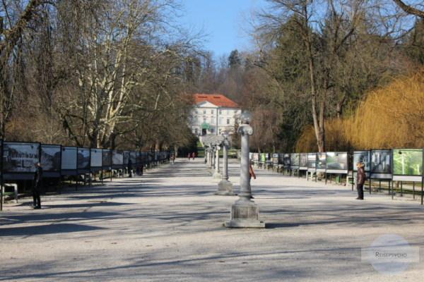 Gallerie im Tivoli Park in Ljubljana