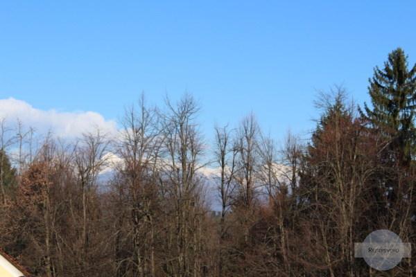 Gebirge hinter Ljubljana