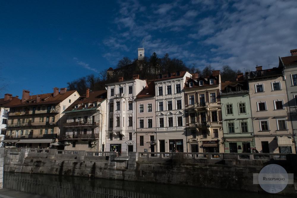 Ljubljana Ufer und Burg