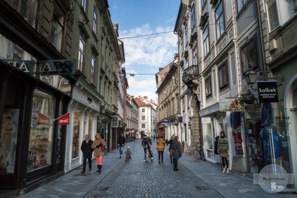 Fußgänerzone in Ljubljana
