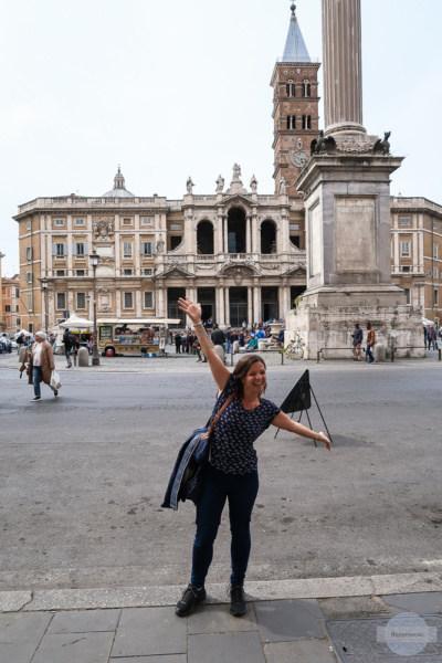 Sich freuen in Rom zu sein