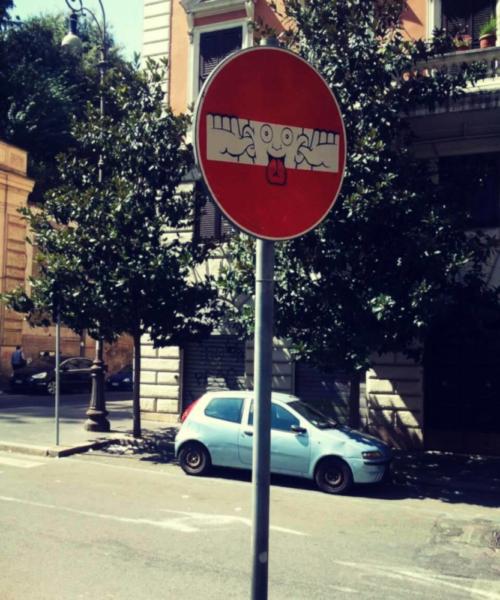 Street Art Rom Zentrum Clet