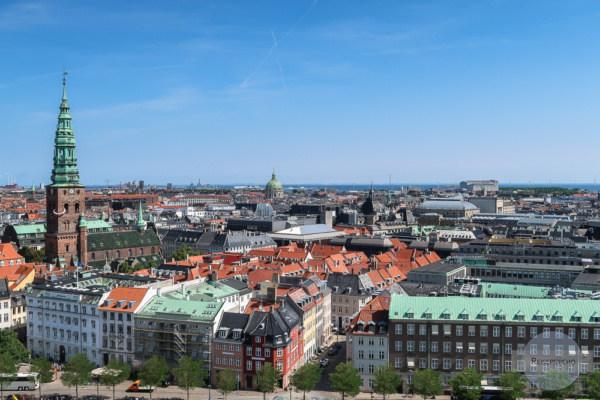 Ausblick vom Christiansborg Slot auf Kopenhagen