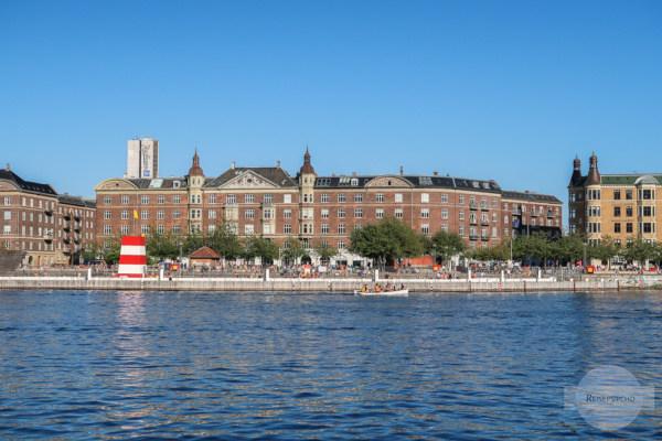 Baden in Kopenhagen im Sommer