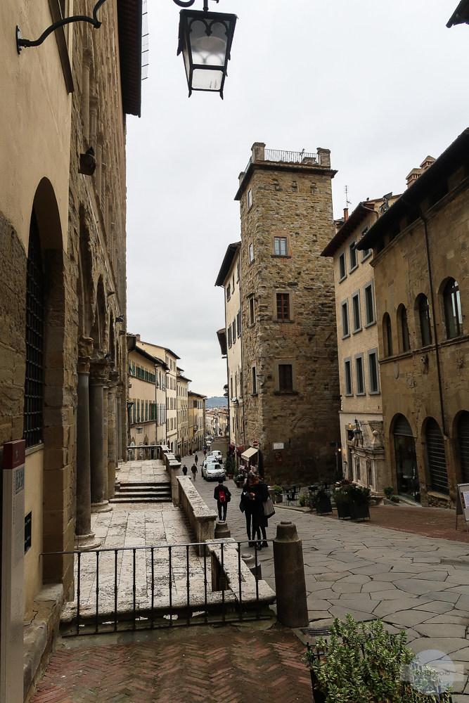 Gassen durch die Altstadt von Arezzo