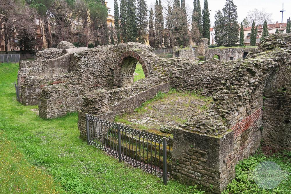 Die Ruinen des Amphitheaters in Arezzo