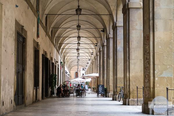 Arkaden in Arezzo Italien