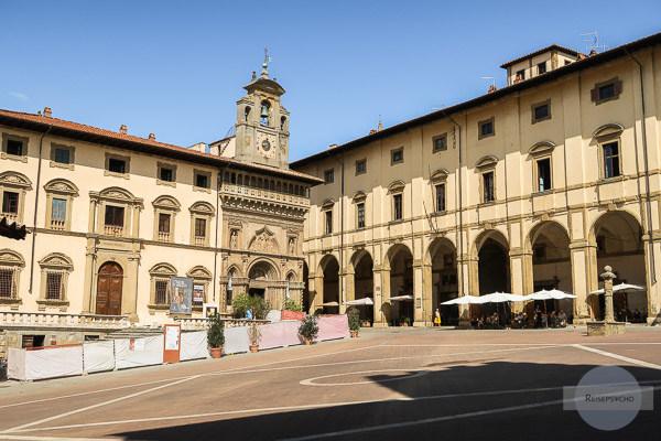 Arezzo, Toskana, Italien - Piazza Grande