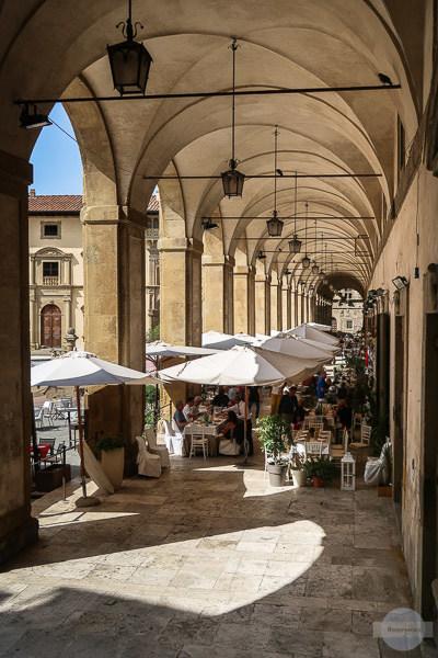 Arkadengang in Arezzo Toskana
