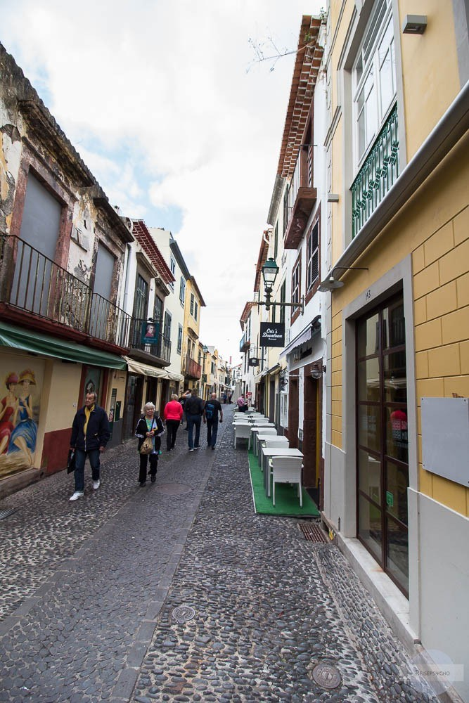 Die Rua de Sante Maria ist eine schöne Flaniermeile in Funchal