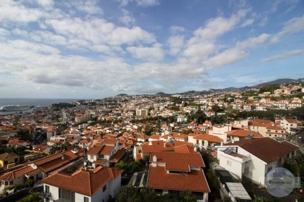 Ausblick Seilbahn Funchal