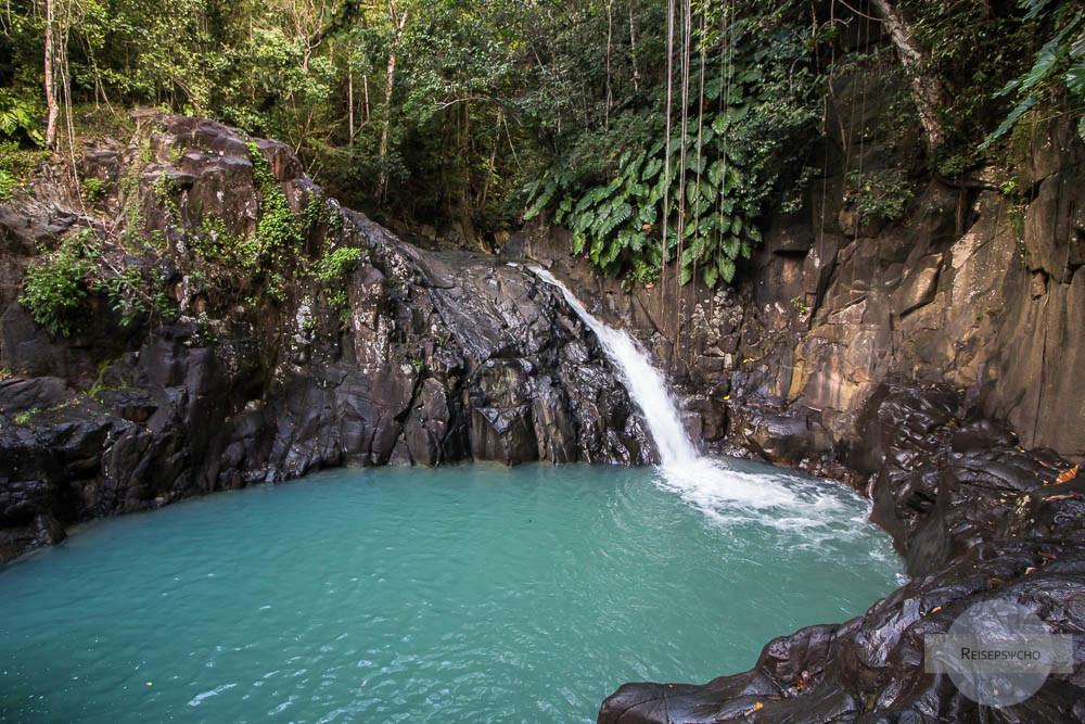 Saut d´Acomat Wasserfall auf Guadeloupe