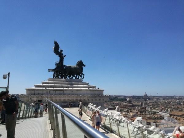 Rom Geheimtipp: Dach des Monumento Vittorio Emanuele II