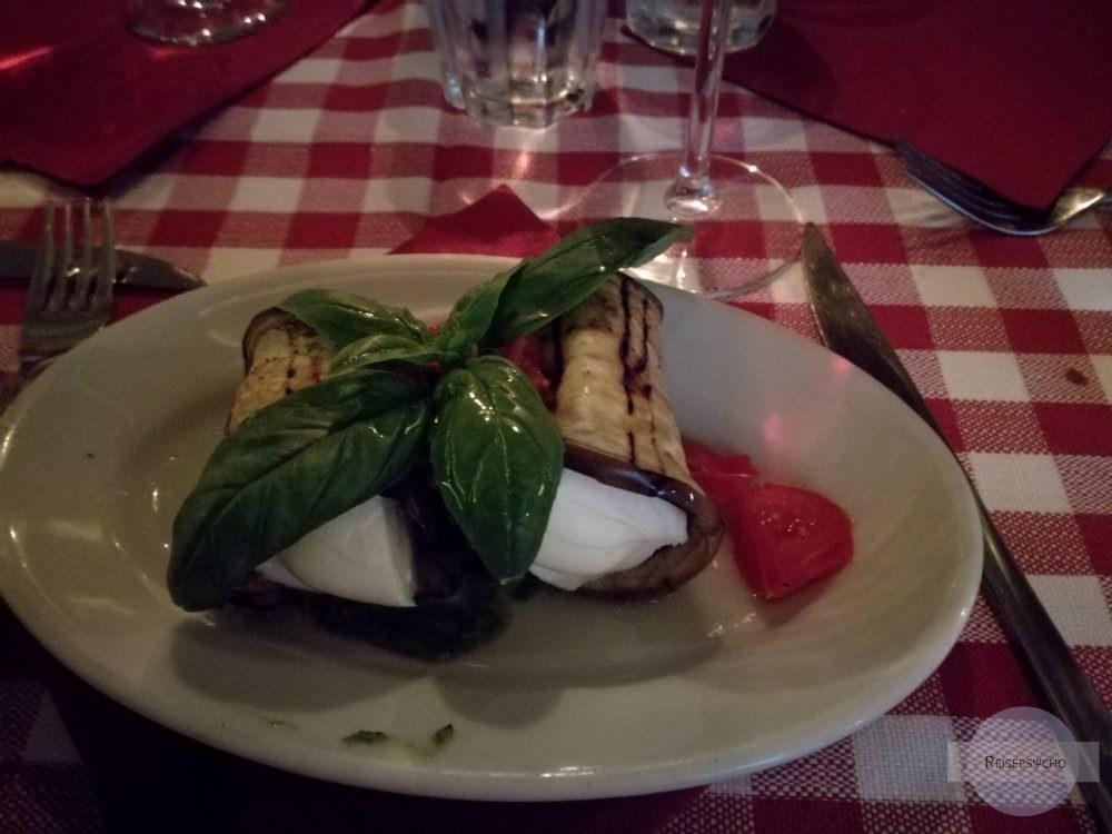 Essen in Trastevere in Rom