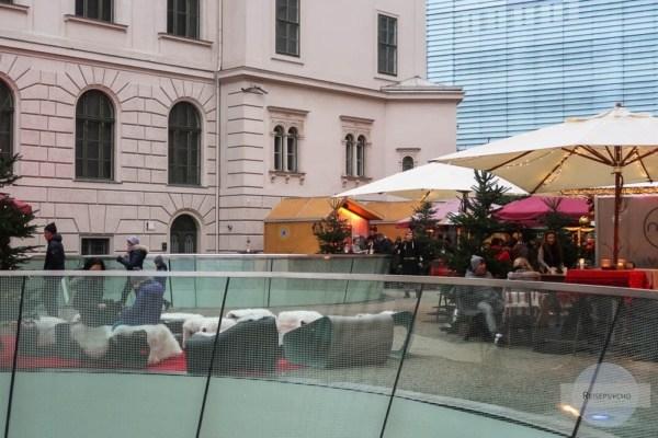 Christkindlmarkt im Joanneumvierten in Graz im Winter