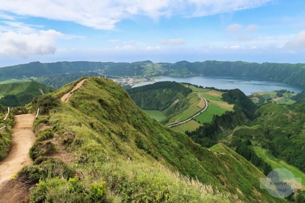 Aussicht vom Miraduoro da Boca do Inferno auf den Azoren
