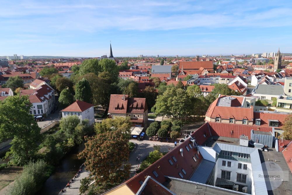 Ausblick über Erfurt