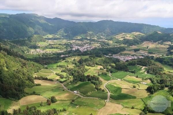 Aussichtspunkte Azoren: Blick ins Landesinnere