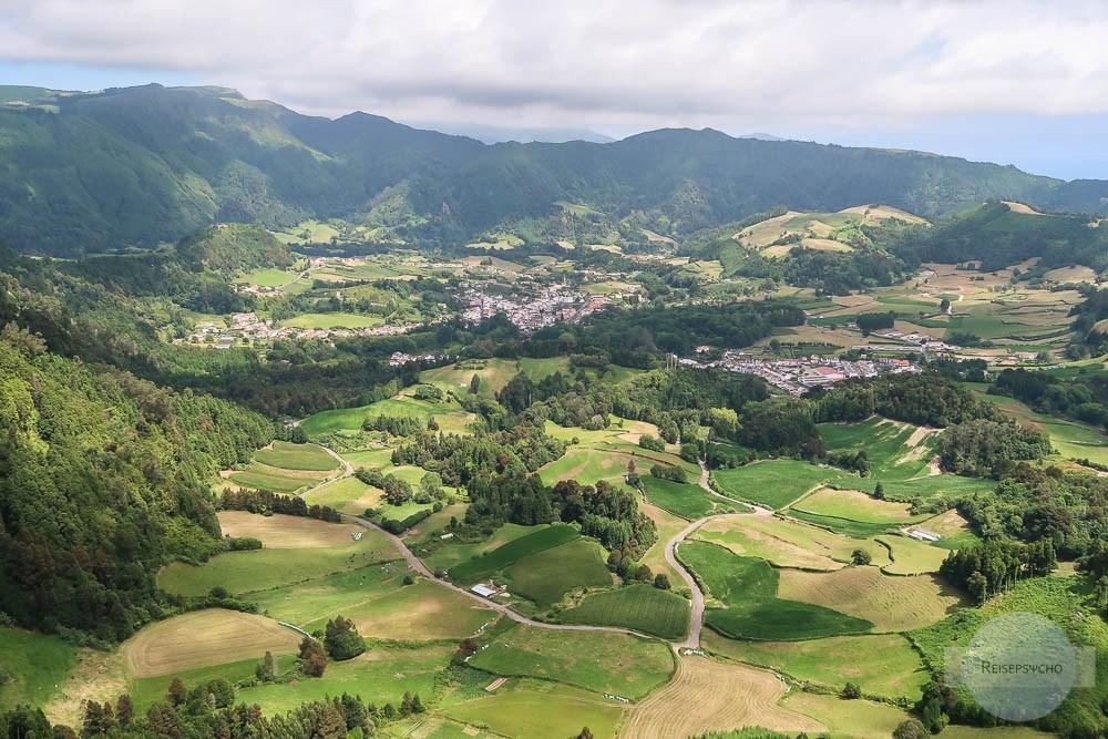 Aussichtspunkte Azoren: Blick auf Furnas
