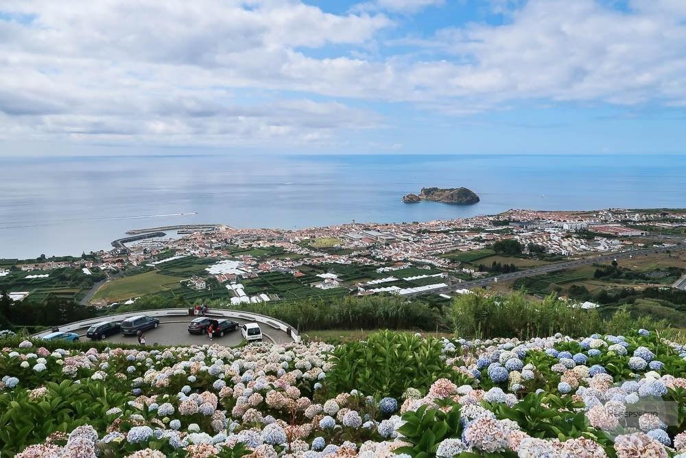 Ausblick von der Nossa Senhora auf Vila Franca