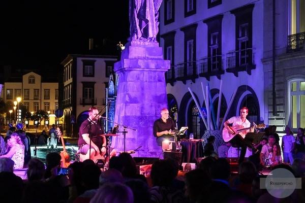 Konzert in Ponta Delgada im Sommer