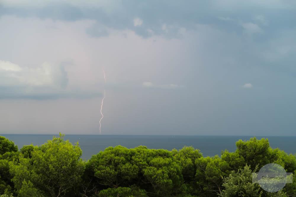 Blitz ins Meer