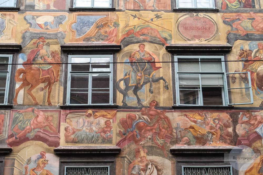 Herrengasse Graz bemaltes Haus