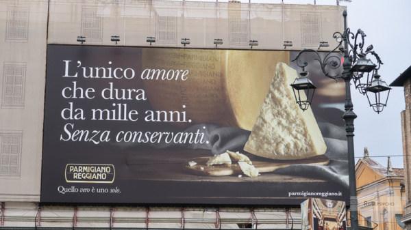 Parmigiano Werbung Parma