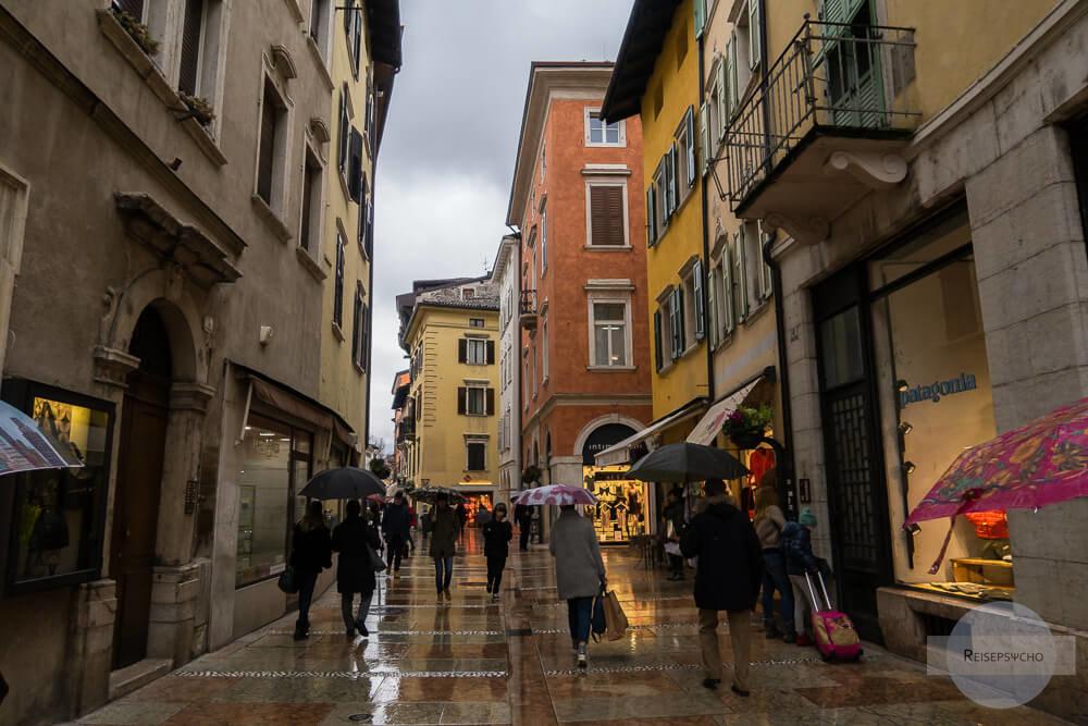 Regenwetter in Trento