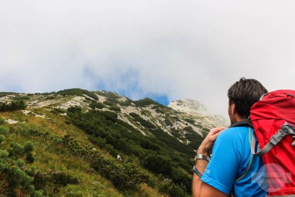 Wolken beobachten in den Bergen
