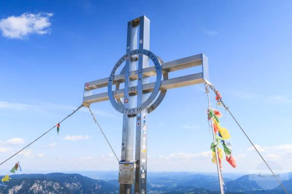 Gipfelkreuz zu Fuß