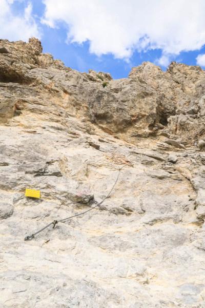 Klettersteig Einstieg